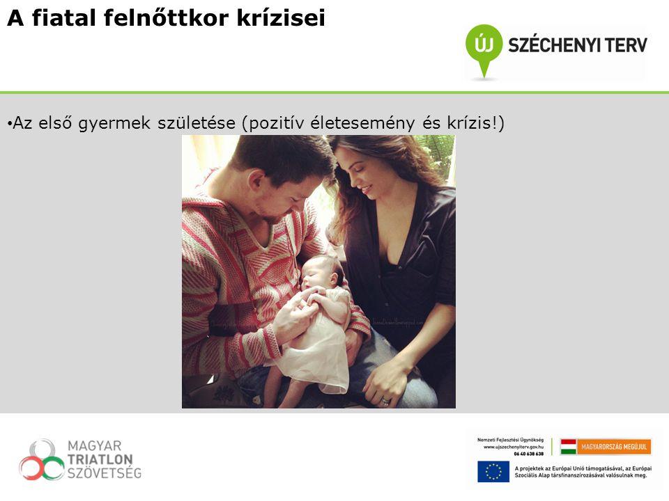A fiatal felnőttkor krízisei Az első gyermek születése (pozitív életesemény és krízis!)