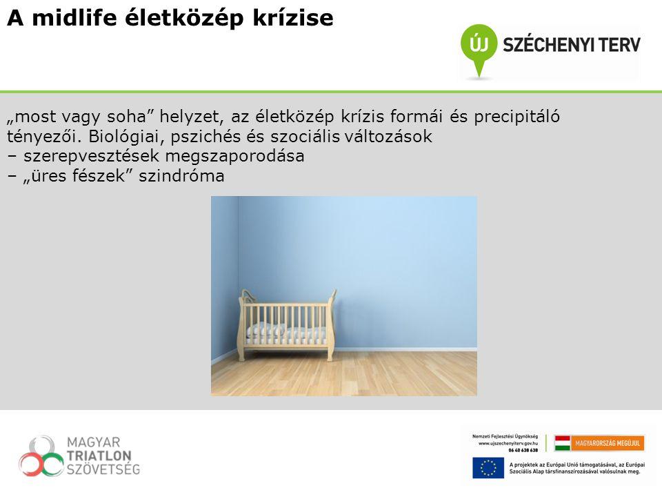 """A midlife életközép krízise """"most vagy soha helyzet, az életközép krízis formái és precipitáló tényezői."""
