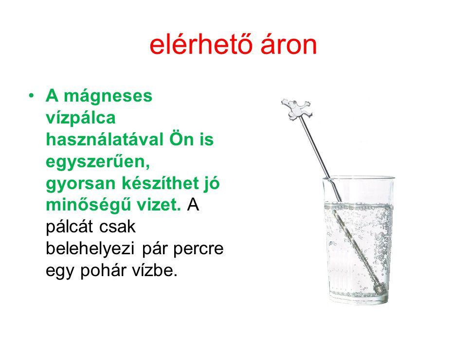 elérhető áron A mágneses vízpálca használatával Ön is egyszerűen, gyorsan készíthet jó minőségű vizet. A pálcát csak belehelyezi pár percre egy pohár