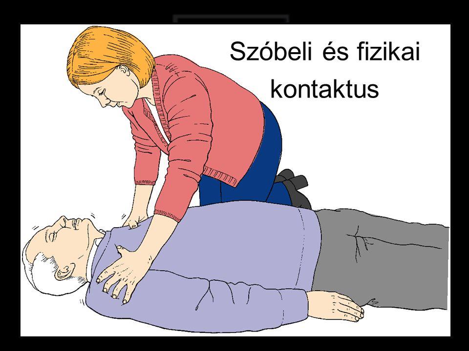 Ha nincs reakció kérjen segítséget. Szaksegítség hívatása- MENTŐK 104!.