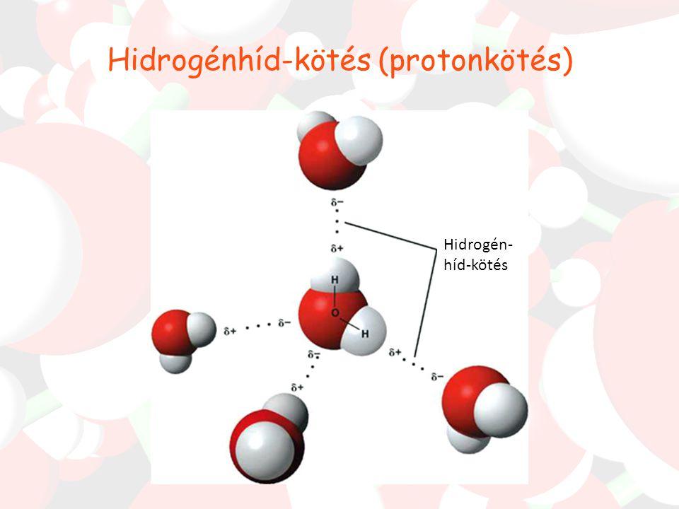 Az oxigénatomtörzs körüli négy elektronpár elhelyezkedésének ideális alakja a tetraéderes (109,5 o ) szerkezet lenne. A nem kötő elektronpároknak azon