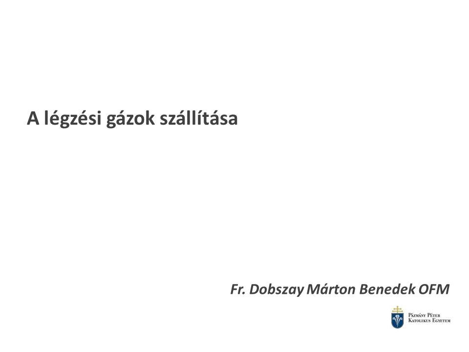 A légzési gázok szállítása Fr. Dobszay Márton Benedek OFM