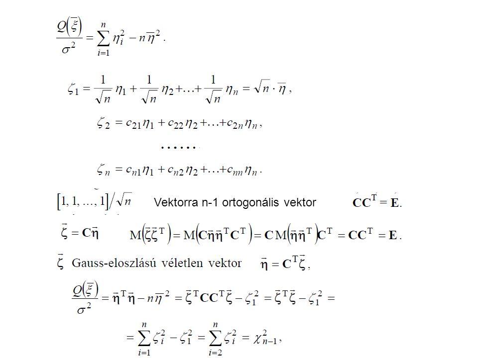 Vektorra n-1 ortogonális vektor