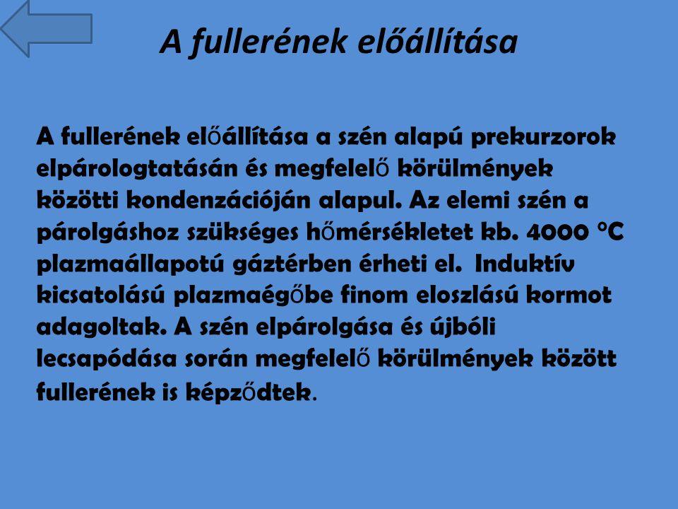 Források http://hu.wikipedia.org/wiki/Fuller%C3%A9n http://tudasbazis.sulinet.hu/hu/termeszettud omanyok/kemia/szervetlen-kemia/a- valtozatos-szen/a-grafit-es-a-fulleren http://tudasbazis.sulinet.hu/hu/termeszettud omanyok/kemia/szervetlen-kemia/a- valtozatos-szen/a-grafit-es-a-fulleren Google képek