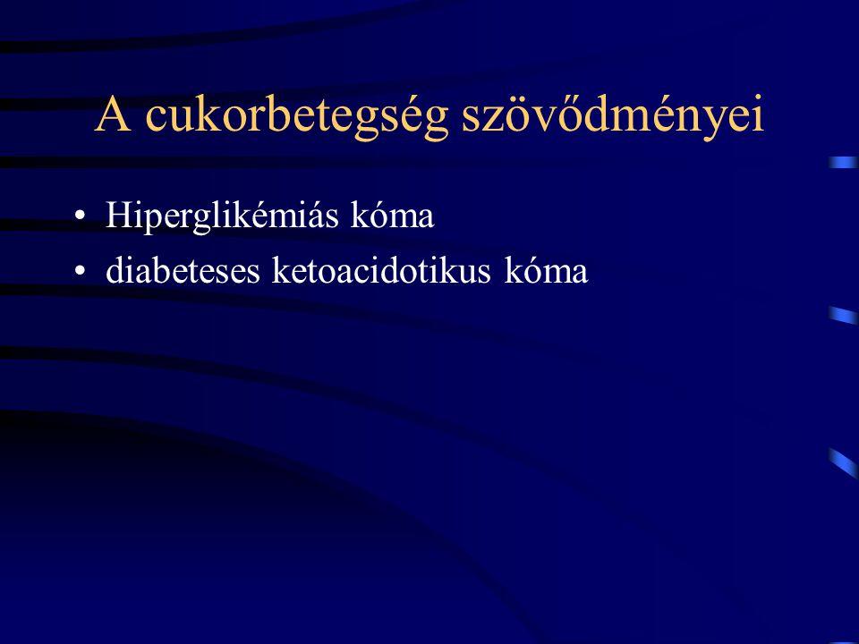 A cukorbetegség szövődményei Hiperglikémiás kóma diabeteses ketoacidotikus kóma