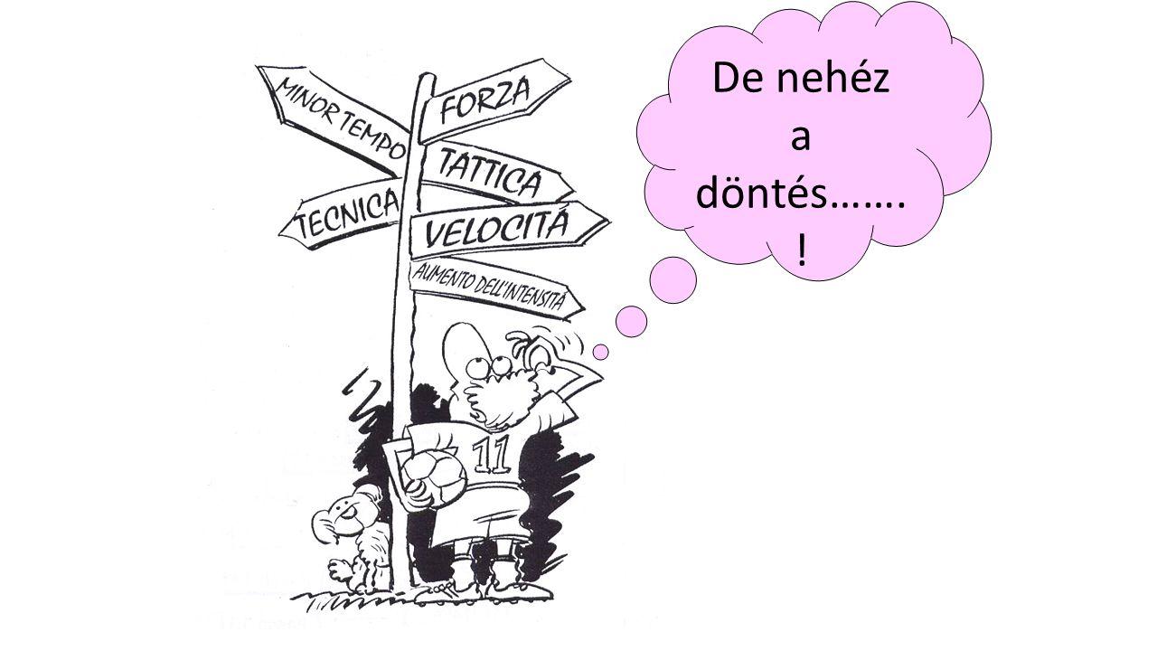 De nehéz a döntés……. !
