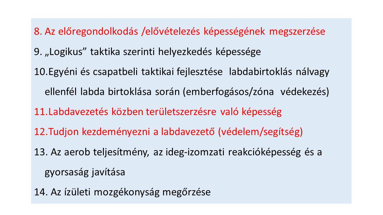 TÁMOGATÁS ELŐL EMBERFOGÁS ZÓNA VÉDEKEZÉS