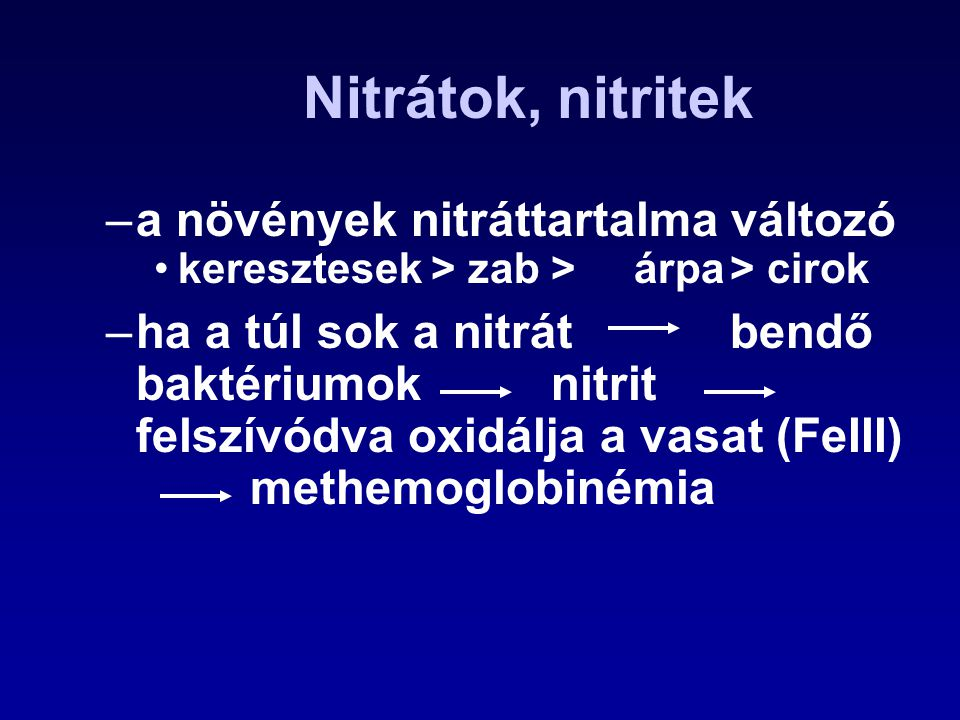 Fumonizinek Termelik: –Fusarium fajok (pl.