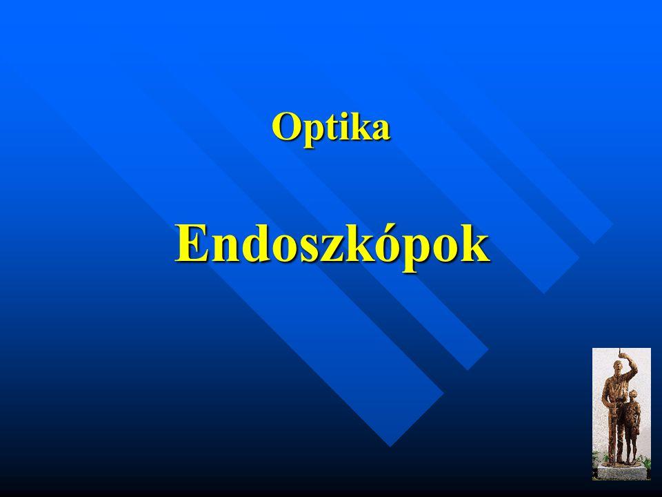 Az endoszkópos rendszerelemek jellemzői Fénykábelek illesztése: