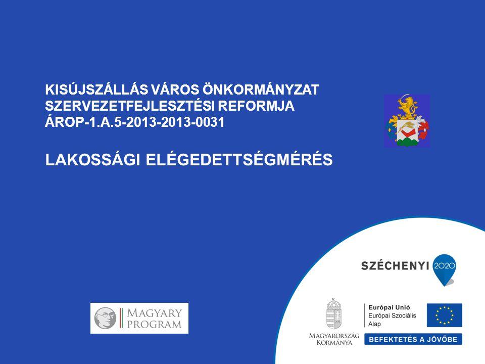 KISÚJSZÁLLÁS VÁROS ÖNKORMÁNYZAT SZERVEZETFEJLESZTÉSI REFORMJA ÁROP-1.A.5-2013-2013-0031 LAKOSSÁGI ELÉGEDETTSÉGMÉRÉS