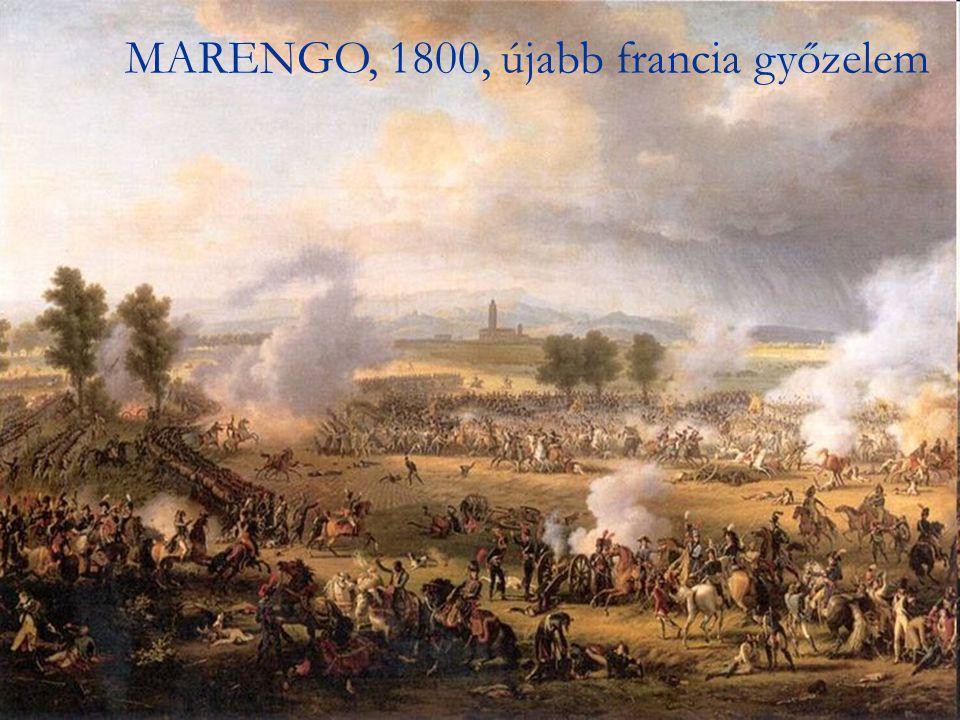 Következménye: - Bécs elfoglalása Következménye: - Bécs elfoglalása - Ferenc császár lányát (Mária Lujza) magához kényszeríti feleségül - Ferenc császár lányát (Mária Lujza) magához kényszeríti feleségül – dinasztiaalapítási vágy.
