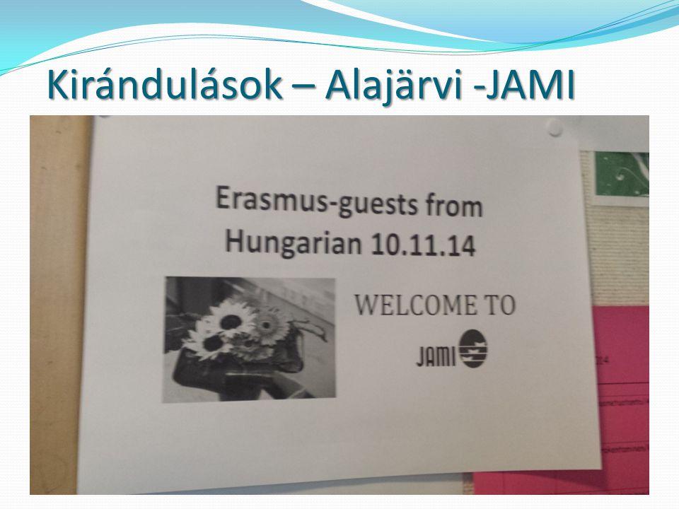 Kirándulások – Alajärvi -JAMI