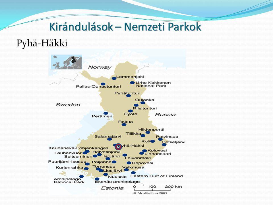 Kirándulások – Nemzeti Parkok Pyhä-Häkki