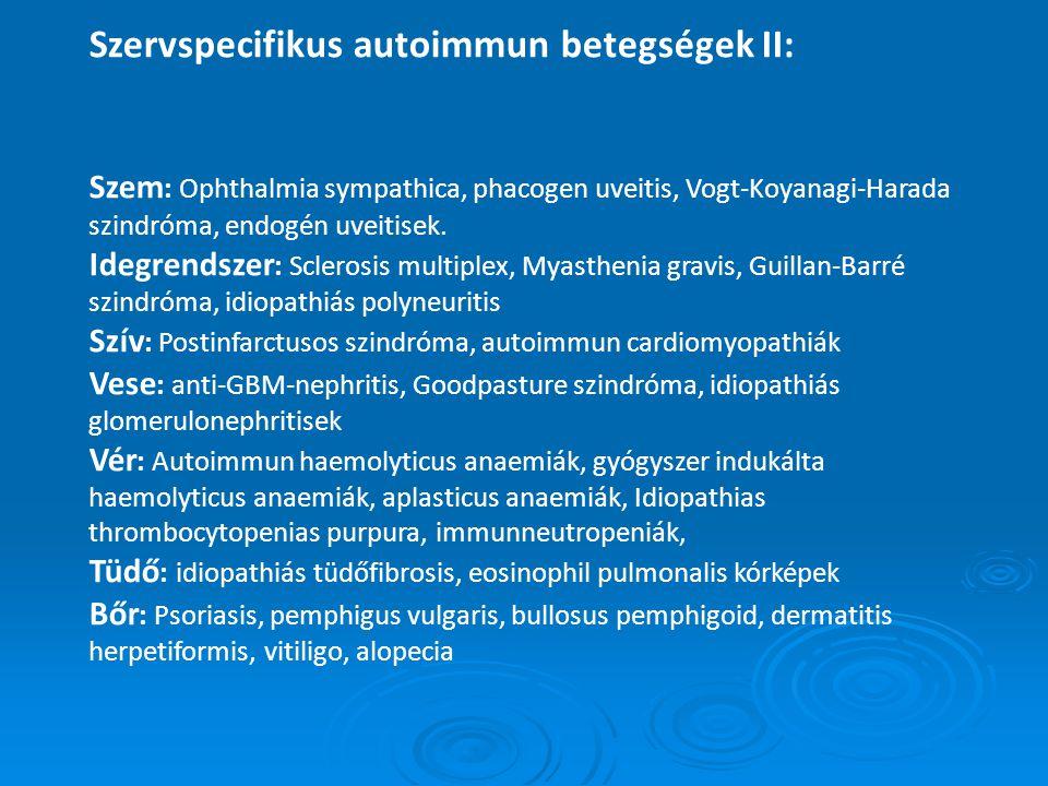 A szisztémás autoimmun betegségek diagnosztikája V.