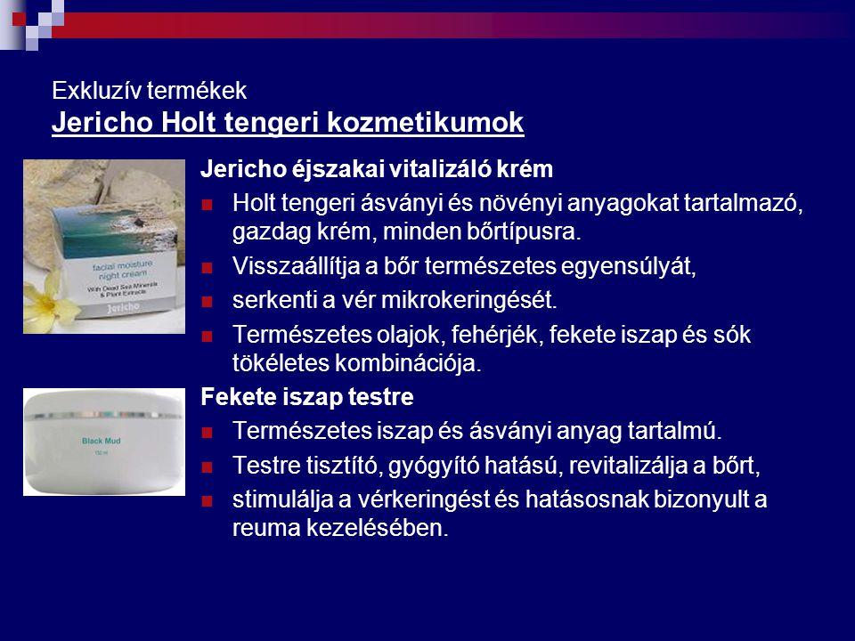 Exkluzív termékek Jericho Holt tengeri kozmetikumok Jericho éjszakai vitalizáló krém Holt tengeri ásványi és növényi anyagokat tartalmazó, gazdag krém
