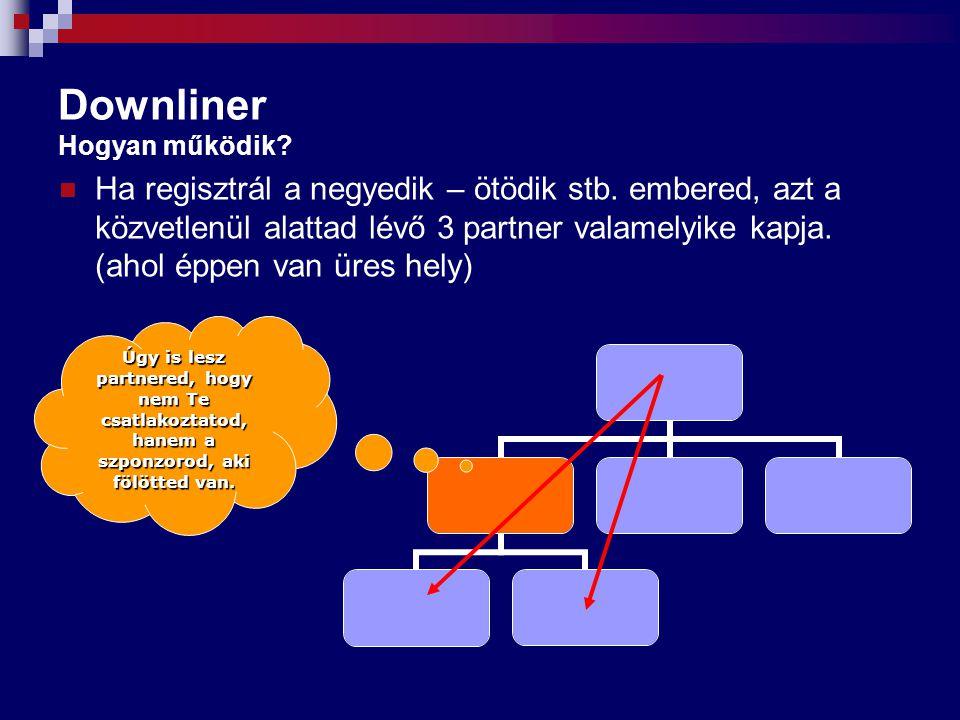 Költségek és feladatok Összehasonlítás Hagyományos hálózat (nem Yess+) Belépési költségek:  csatlakozási díj,  első kötelező termékcsomag,  első rendezvény részvételi díja,  mappa, termékkatalógus stb.