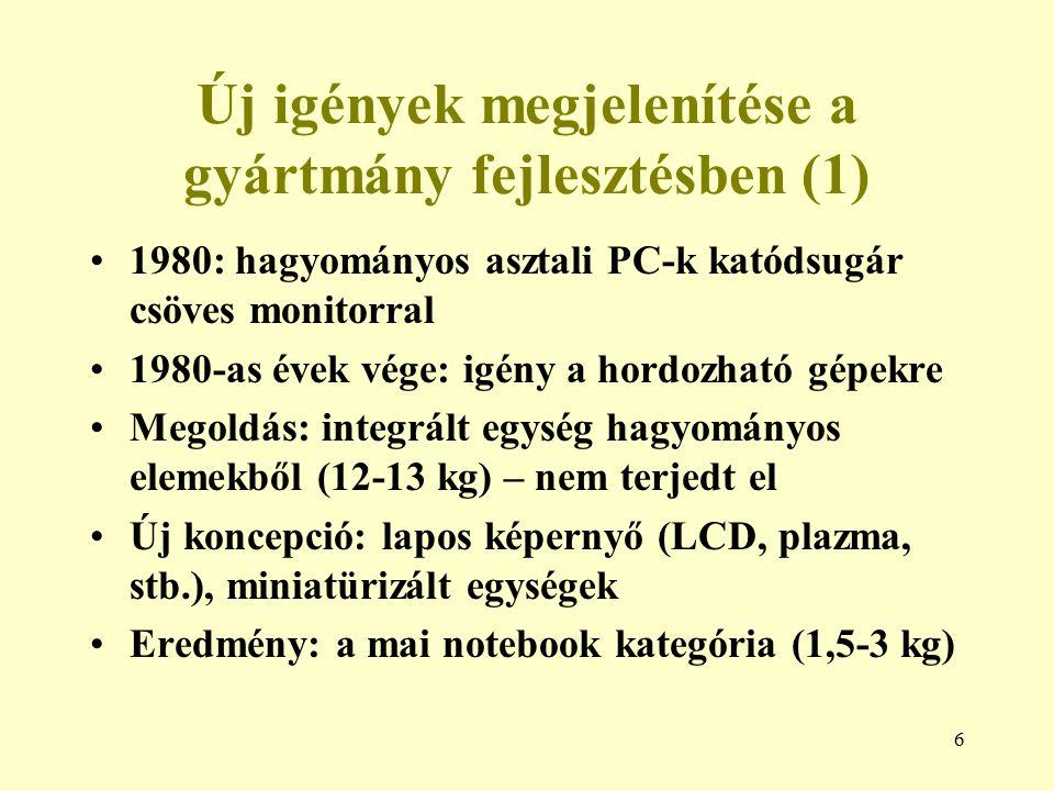 47 Példa: anyag kiválasztási diagramok (2) E, GPa ρ, Mg/m 3 0,1 1 10 0,1 100 10 1 Polimerek Kompozitok Fémötvözetek Műszaki kerámiák Fa E/ρ=C 1000