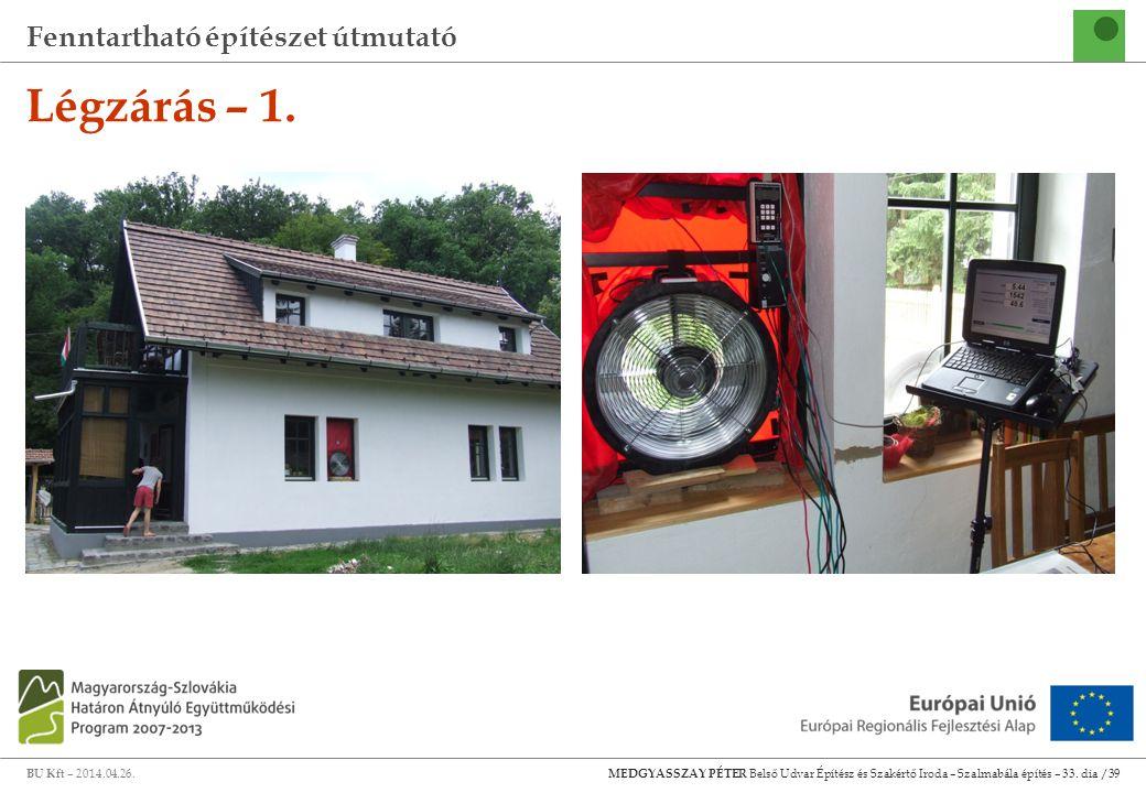 Fenntartható építészet útmutató BU Kft – 2014.04.26.