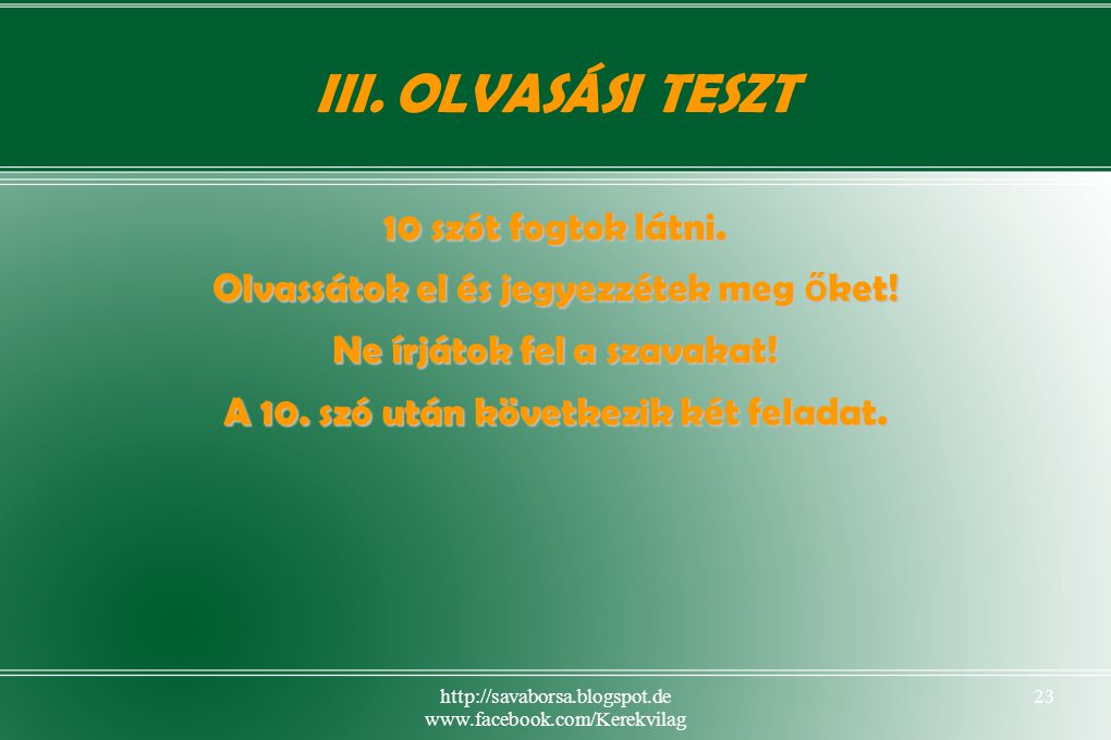 http://savaborsa.blogspot.de www.facebook.com/Kerekvilag 23 III.