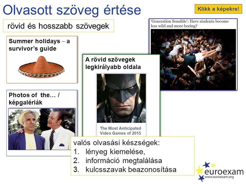 Írott szöveg létrehozása üzenet hatékonysága szövegtípusok (pl.