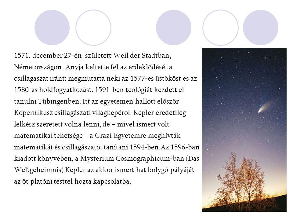 1571. december 27-én született Weil der Stadtban, Németországon. Anyja keltette fel az érdeklődését a csillagászat iránt: megmutatta neki az 1577-es ü
