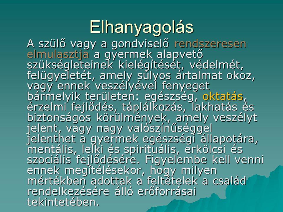 Fizikai bántalmazás (2)  A fizikai bántalmazást minden esetben jelezni kell.