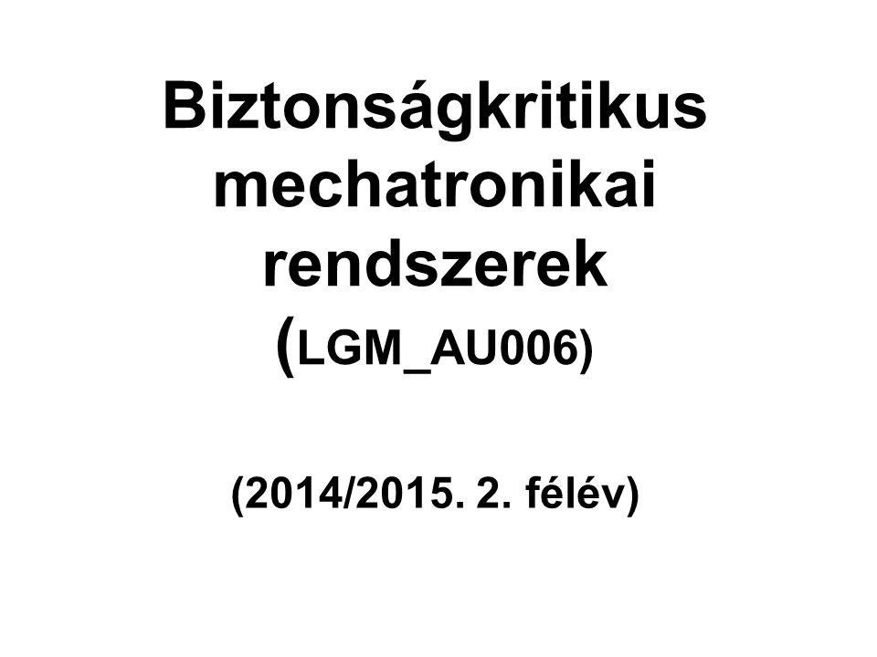 Biztonságkritikus mechatronikai rendszerek ( LGM_AU006) (2014/2015. 2. félév)