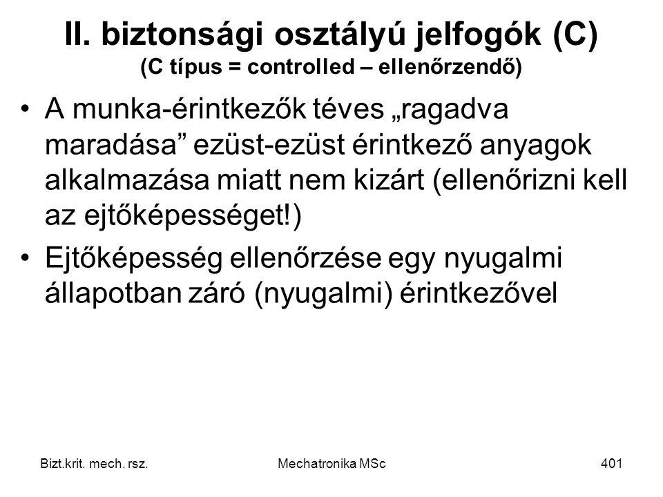 Bizt.krit.mech. rsz.Mechatronika MSc401 II.