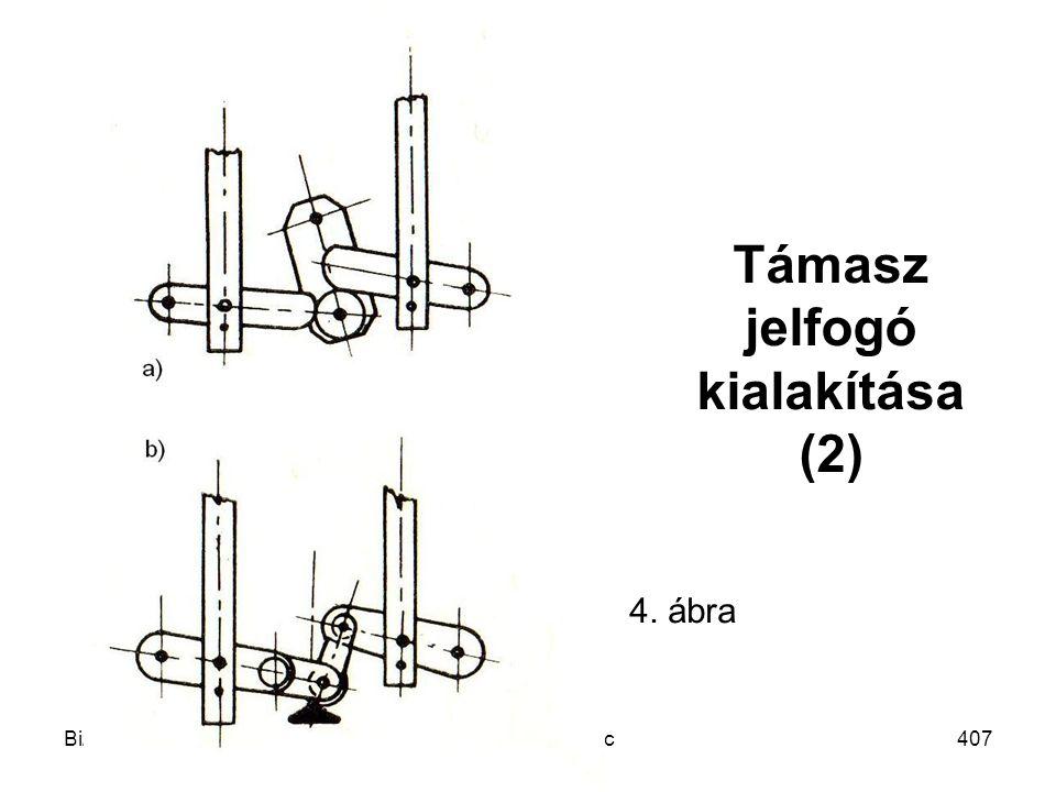 Bizt.krit. mech. rsz.Mechatronika MSc407 Támasz jelfogó kialakítása (2) 4. ábra