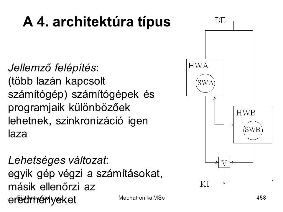 Bizt.krit.mech. rsz.Mechatronika MSc458 A 4.