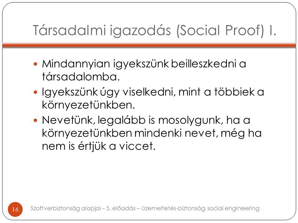 Társadalmi igazodás (Social Proof) I. Mindannyian igyekszünk beilleszkedni a társadalomba.