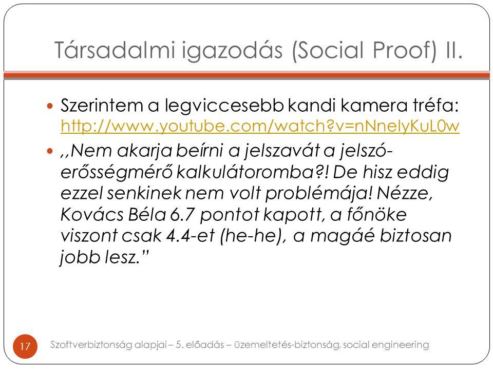 Társadalmi igazodás (Social Proof) II.