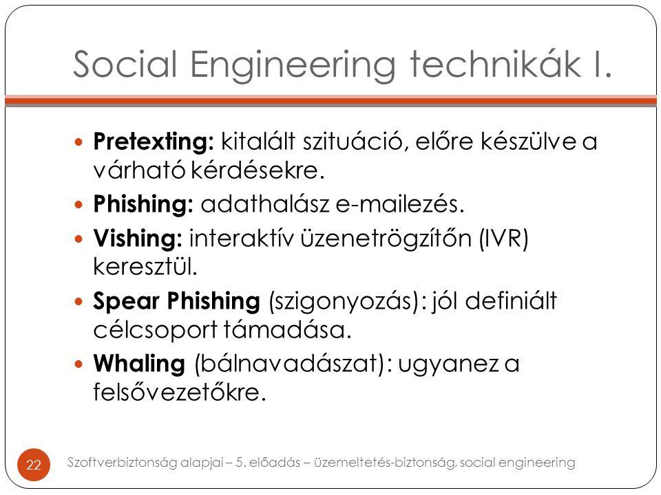 Social Engineering technikák I.