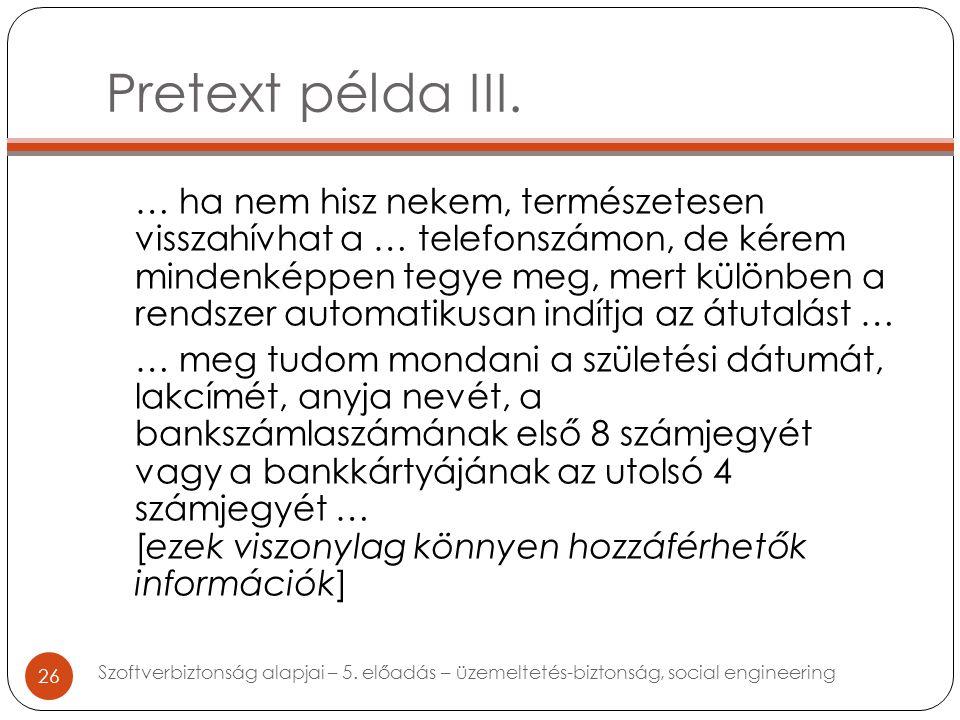 Pretext példa III.
