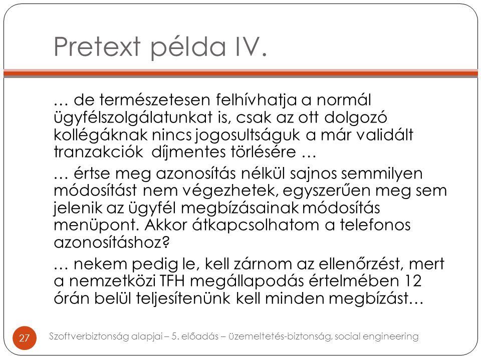 Pretext példa IV.