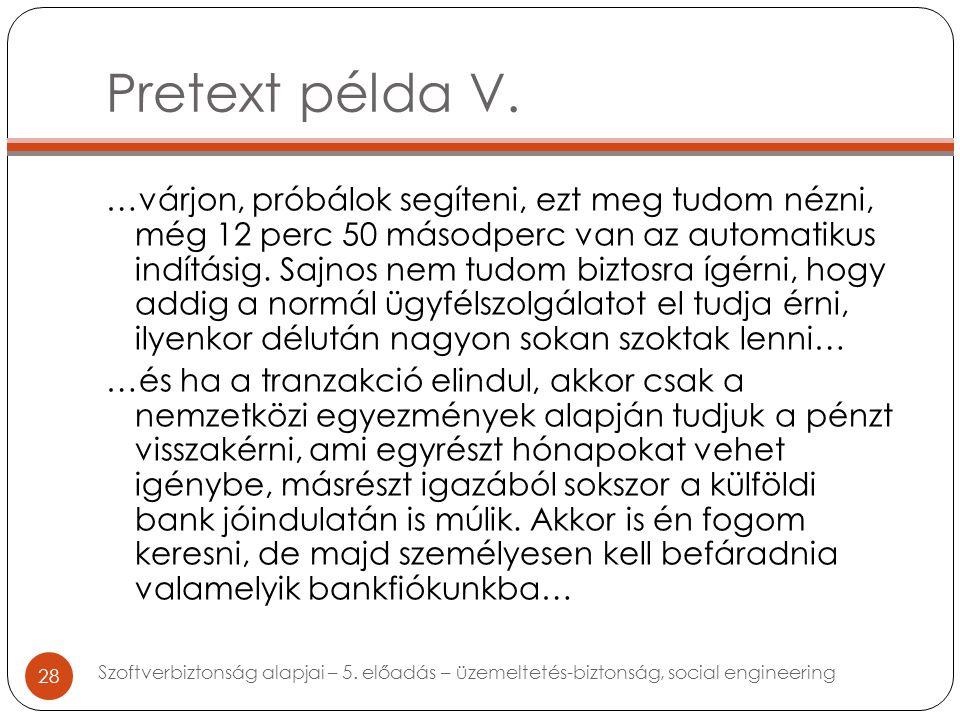 Pretext példa V.