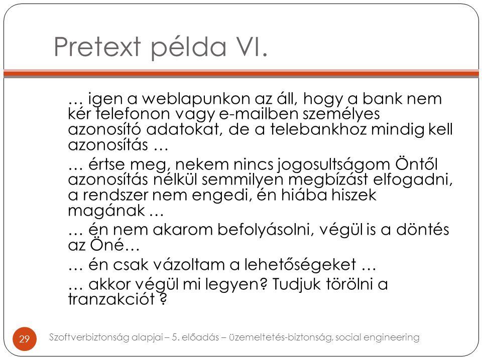 Pretext példa VI.