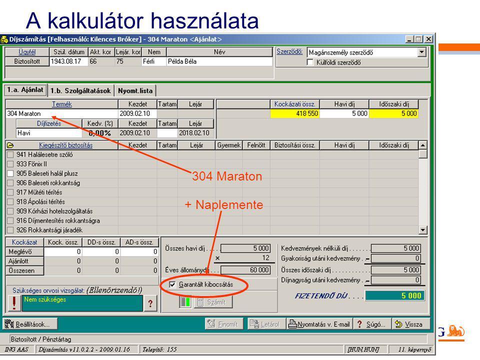 33 A kalkulátor használata + Naplemente 304 Maraton