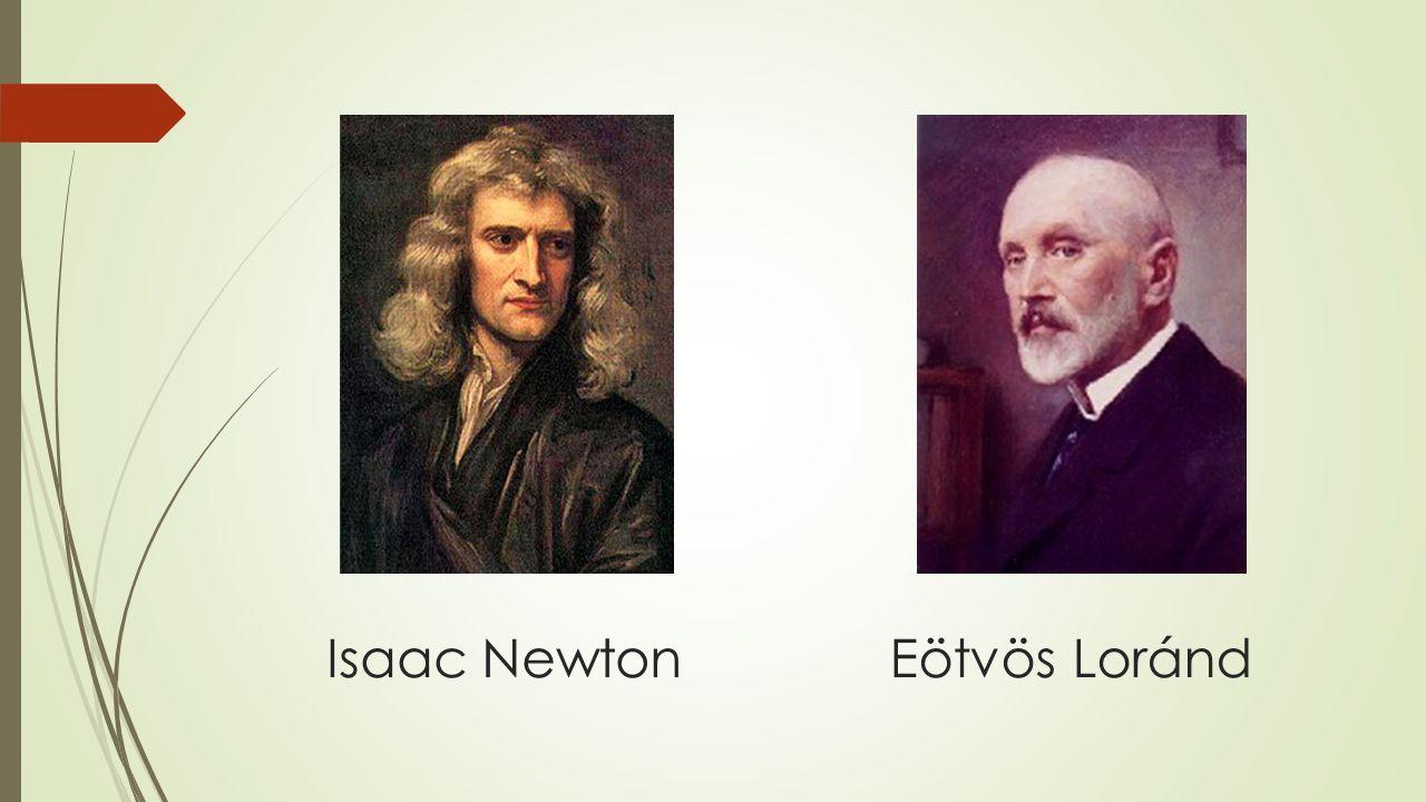 Isaac NewtonEötvös Loránd