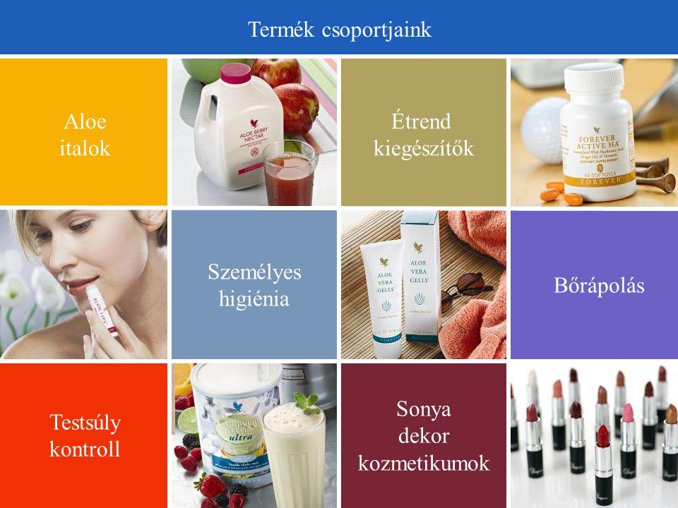 Sonya dekor kozmetikumok Testsúly kontroll Személyes higiénia Bőrápolás Étrend kiegészítők Aloe italok Termék csoportjaink