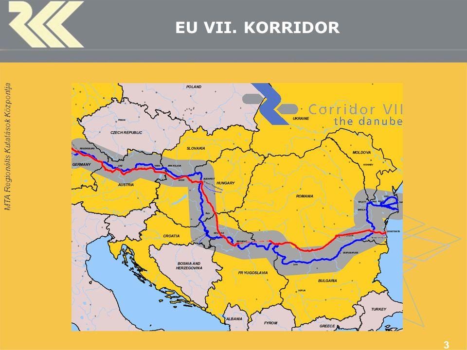 MTA Regionális Kutatások Központja 3 EU VII. KORRIDOR