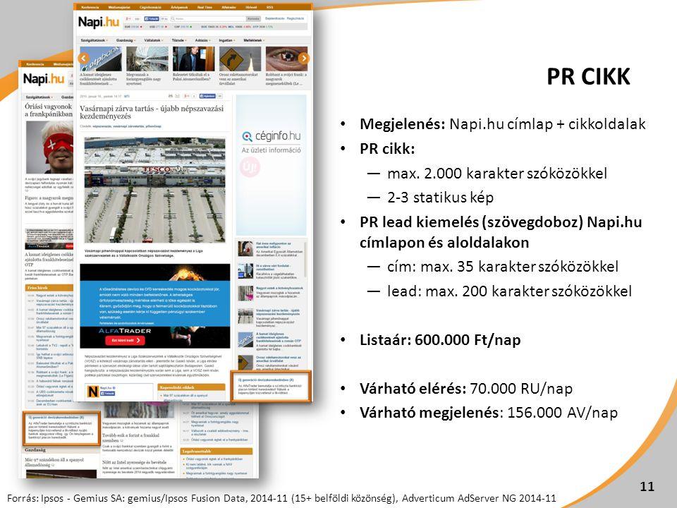 PR CIKK Megjelenés: Napi.hu címlap + cikkoldalak PR cikk: ―max.
