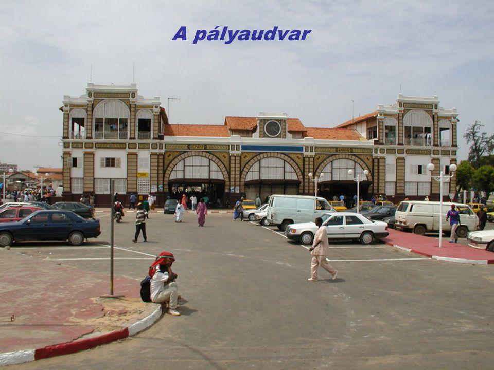 Szenegál fővárosa, Dakar, a magasból.