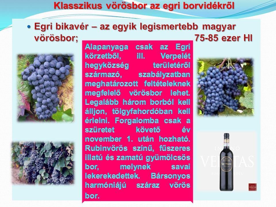 Klasszikus vörösbor az egri borvidékről Klasszikus vörösbor az egri borvidékről