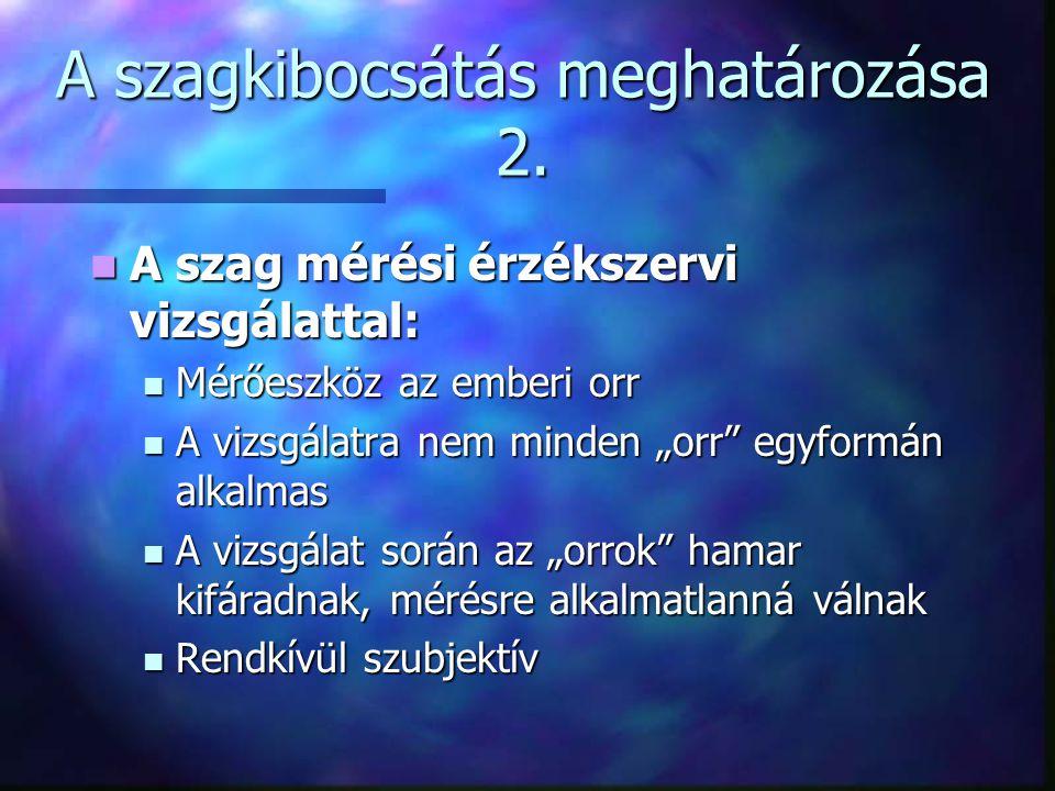 A szagkibocsátás meghatározása 3.