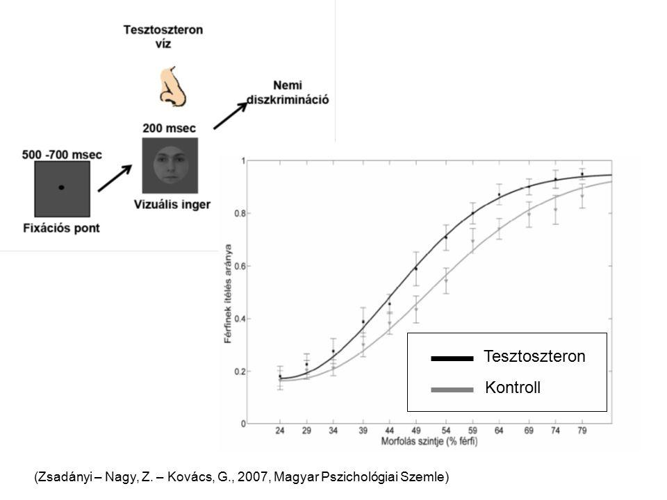 Tesztoszteron Kontroll (Zsadányi – Nagy, Z. – Kovács, G., 2007, Magyar Pszichológiai Szemle)