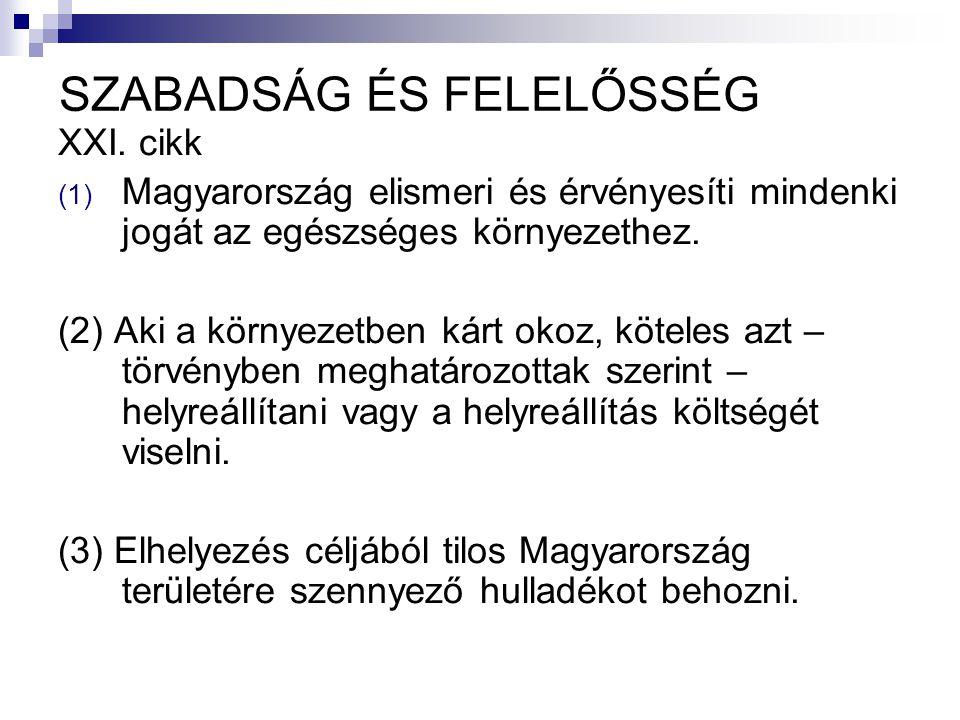 SZABADSÁG ÉS FELELŐSSÉG XXI.