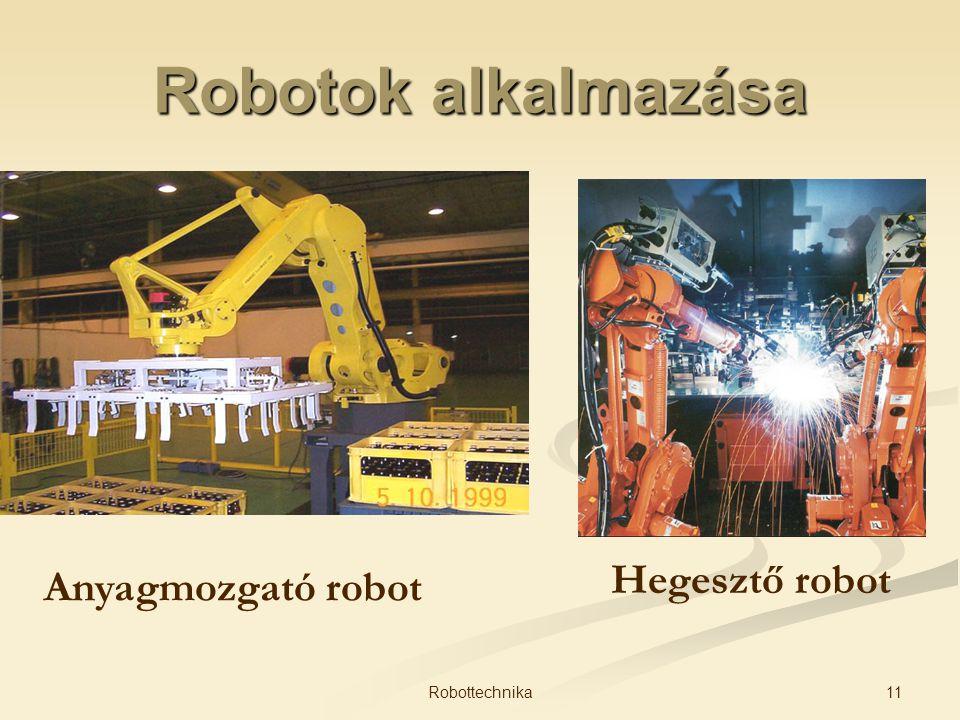 Robotok alkalmazása Anyagmozgató robot Hegesztő robot 11Robottechnika