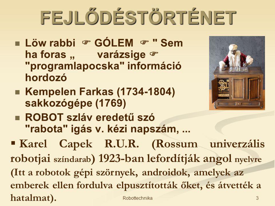 FEJLŐDÉSTÖRTÉNET Löw rabbi  GÓLEM 