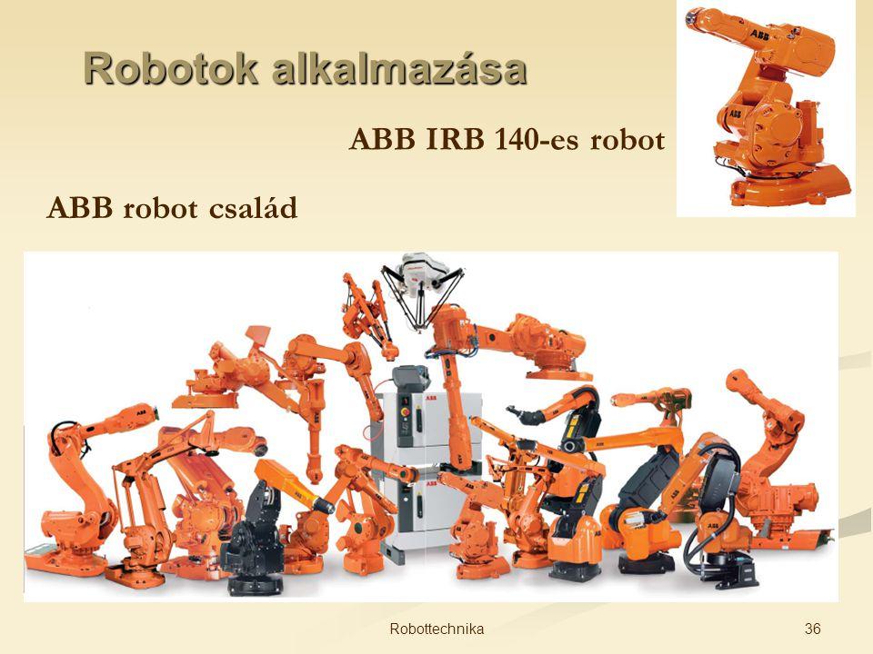 Robotok alkalmazása ABB IRB 140-es robot ABB robot család 36Robottechnika